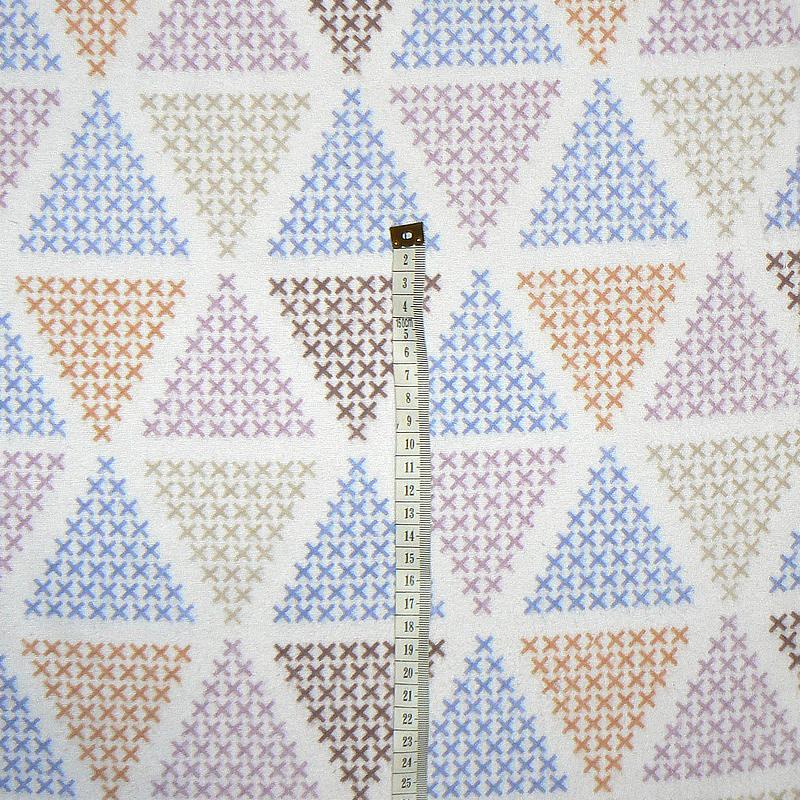 2S36 Bavlněný flanel látka 26x40cm barevné křížky zbytek na patchwork 5ca78a5e96f