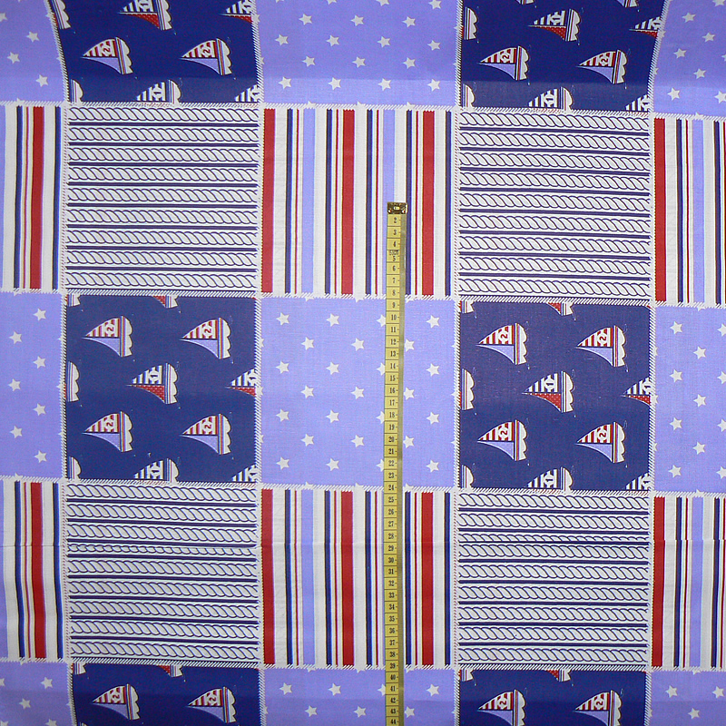 532c8f738cab 099D Bavlněná látka plátno 40x79cm plachetnice modrofialová