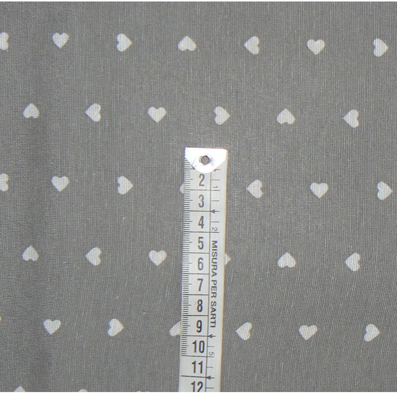 Bavlněná (režná) látka 28x46cm srdíčka na šedé zbytek na patchwork (1L128) ab226aa10e1