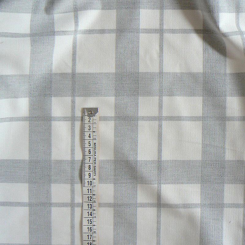 Bavlněný vzorovaný manšestr 29x150cm káro šedoperlová (up61 ... 2b047fbbfa8