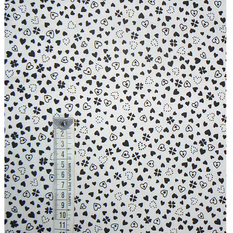 16664b020f81 Bavlněná látka černobílá srdíčka 33x20cm zbytek na patchwork (1Q32 ...