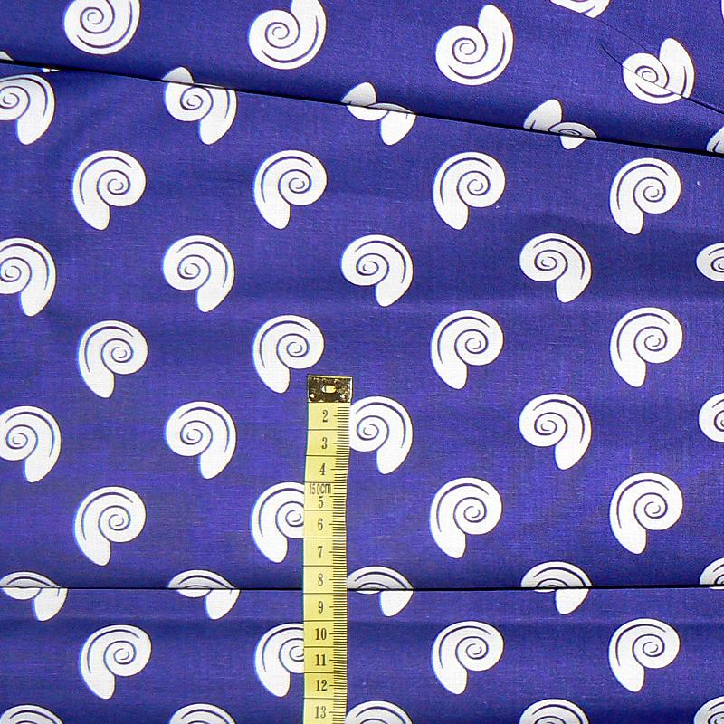 097D Bavlněná látka plátno 40x79cm tmavě modrá ulity fe7f1c472a2